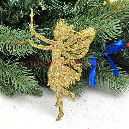 Angel Wings - Christmas Tree decorations - 5 Pieces for 19.95$ - Go Jingle Bells