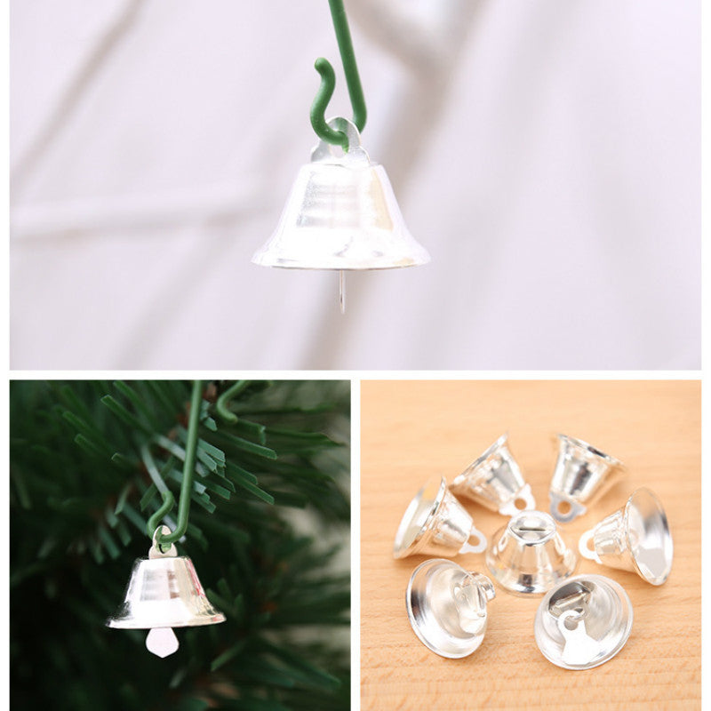 Jingle Bells-Gold or Silver color for Christmas Tree Decorations and Party Decorations - 10 pieces - Go Jingle Bells