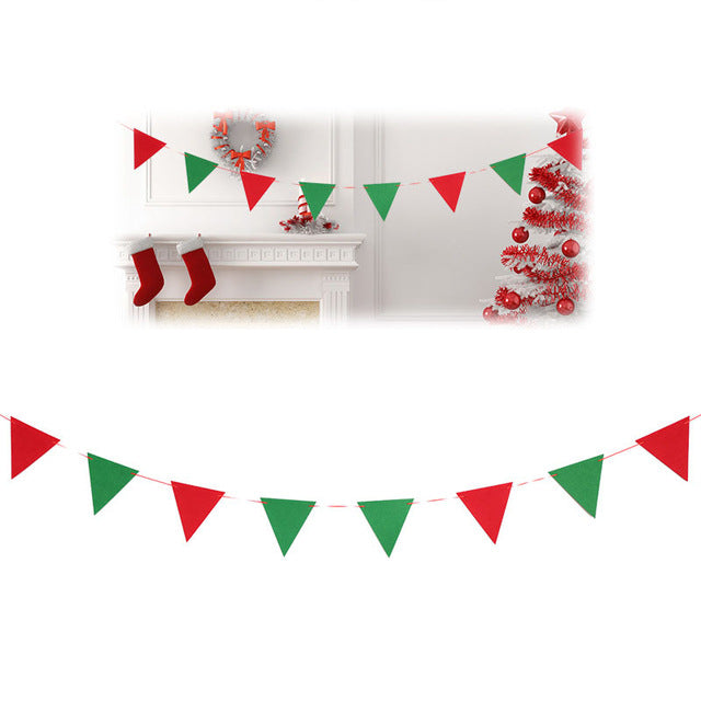 Christmas - XMas - Flags for Decoration - Non-woven Fabric Flags - DIY - Go Jingle Bells