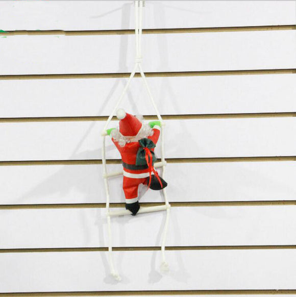 Santa Claus Doll Climbing Ladder - Go Jingle Bells