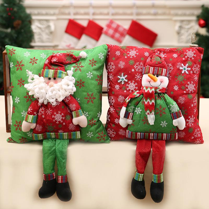 Santa Claus Cushion Cover with Legs - 3D - Go Jingle Bells