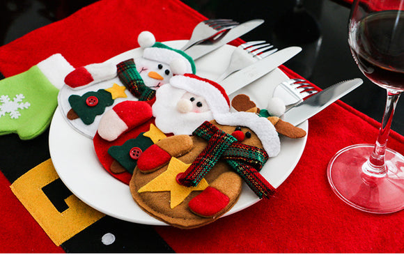 Christmas themed - Cutlery Holder Bags for Dinner Table - Go Jingle Bells