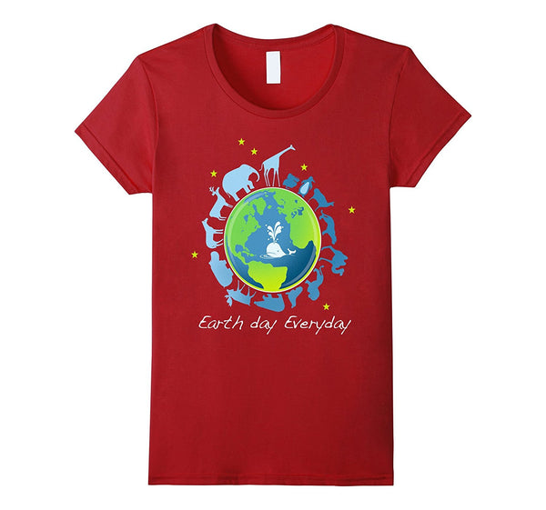 Earth Day Every Day - Animal Design - T Shirt - On Special Sale Now - Order 2, Get 1 Free - Go Jingle Bells