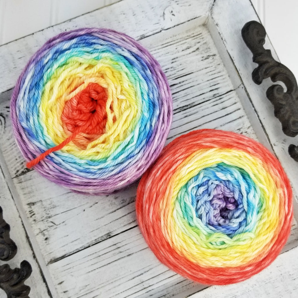 Plush Worsted Gradient, 4.6 oz (130 g) -  OOAK Rainbow Watercolor