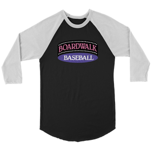 "The Boardwalk and Baseball ""Walk Off"" Men's Raglan Shirt"