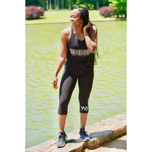 Women's Black Excellence Flowy Side Slit Tank (Multiple Colors)