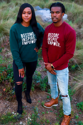 MODERN Become. Inspire. Empower. Fleece Crew w/ Pockets (Multiple Colors)