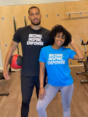 Unisex SPORT Become. Inspire. Empower. T-Shirt (Multiple Colors)