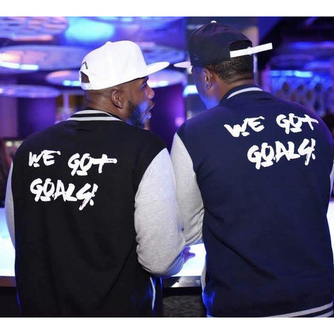 #WeGotGoals Varsity Jacket - #YouVsYourself