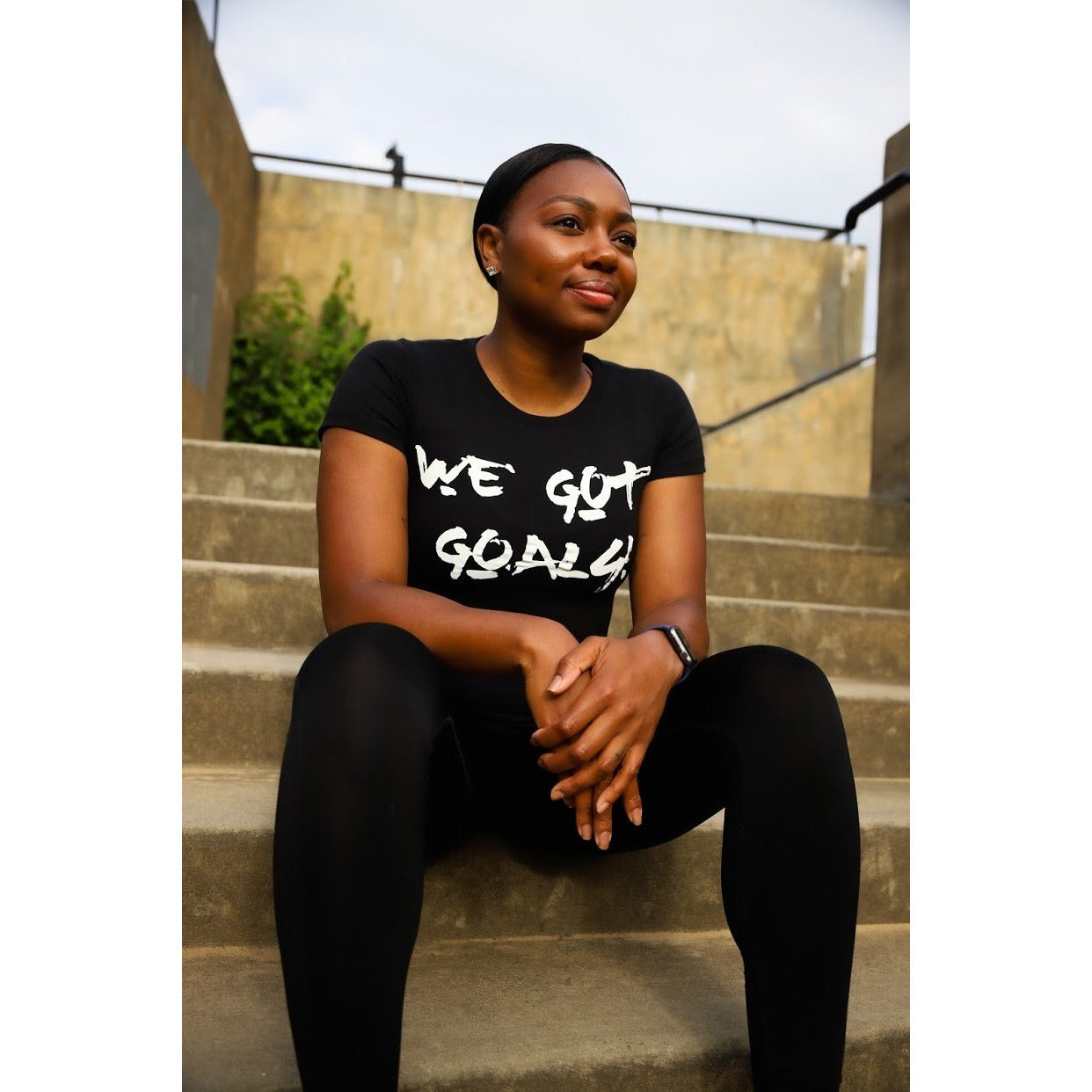 Women's We Got Goals + You Vs Yourself Fitted T-Shirt