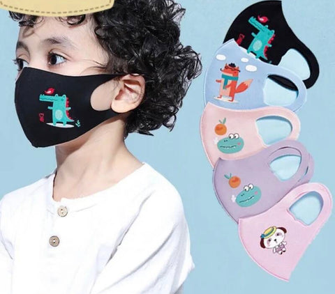 Kids Reusable Mask - Multiple Colors & Designs