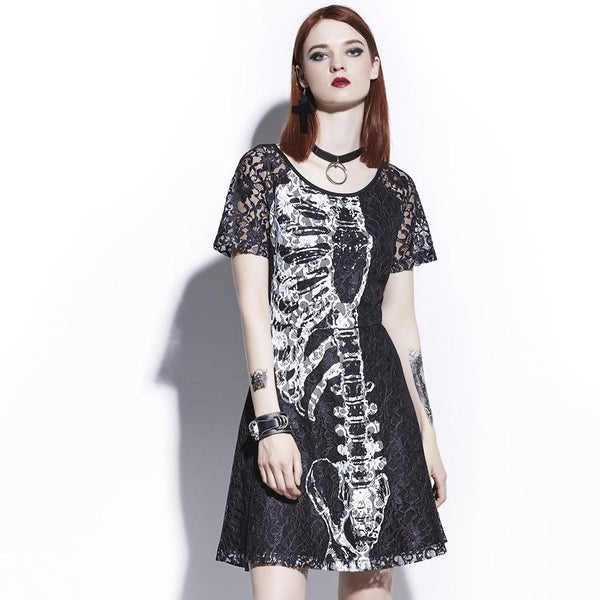 Wicked Skull Gothic Dress Lookorama