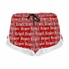 Rezpect Bandana Print Shorts Red