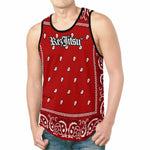 REZJITSU BANDANA PRINT TANK TOP - RED