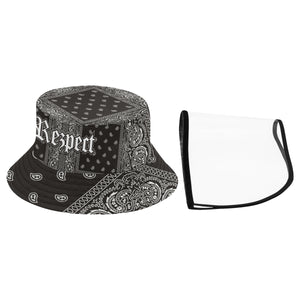 Rezpect Bucket Hat with Attachable Face Shield