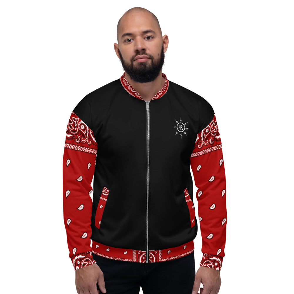The Protected Bomber Jacket - Black & Red