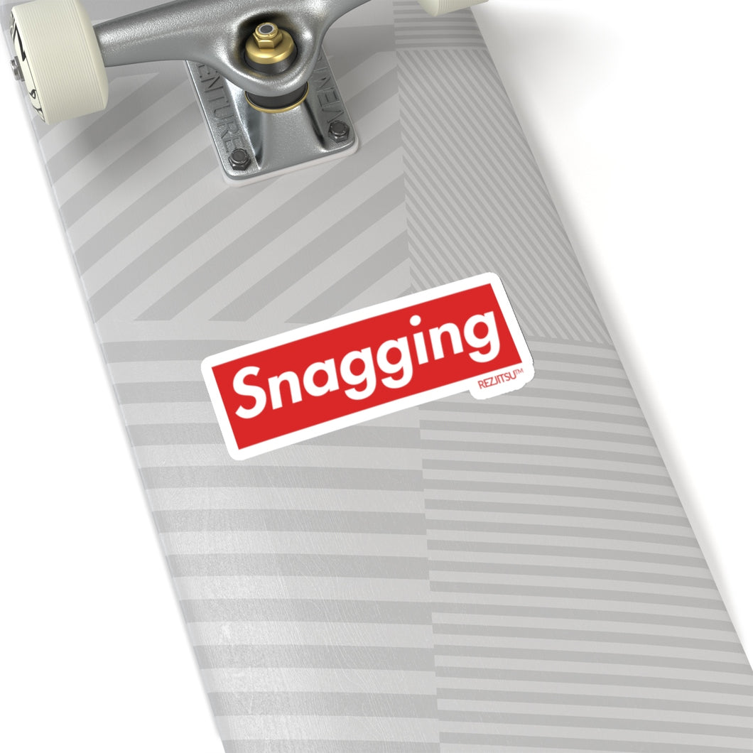 Snagging Sticker