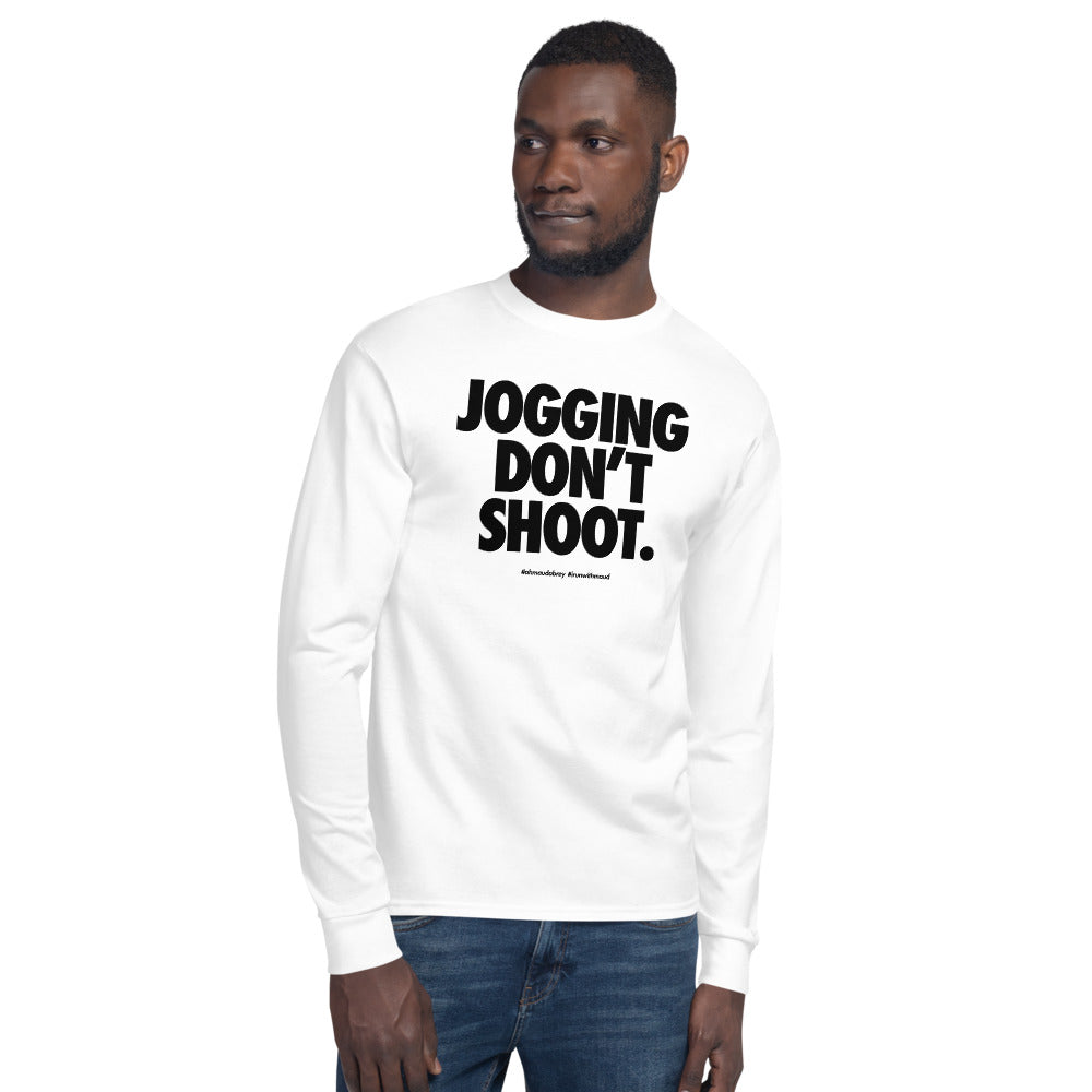 Jogging Don't Shoot - Nike Font Statement Champion Long Sleeve T-Shirt