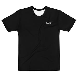 Black T-Shirt with White Rezpect in Old English across the back. Rezjitsu logo on front.