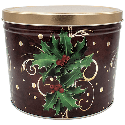 Boughs of Holly Holiday Tin 2 Gallon