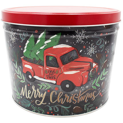 Tree Farm Truck Holiday Tin 2 Gallon