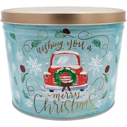 Vintage Christmas Tin 2 Gallon