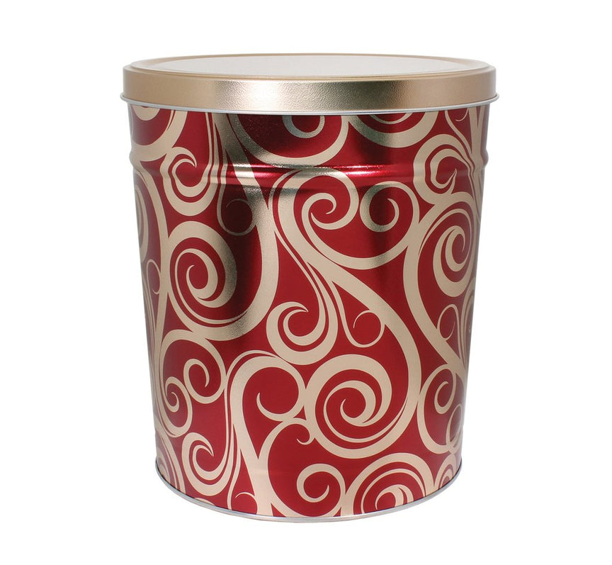 Golden Swirls Tin 3.5 Gallon