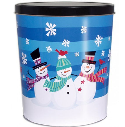 Snowman Holiday Tin 3.5 Gallon