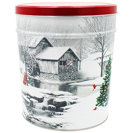 Snow Covered Mill Tin 3.5 Gallon