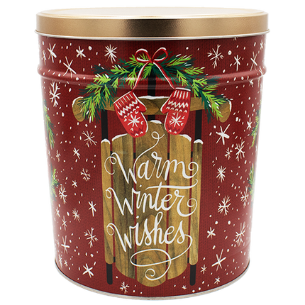 Warm Winter Wishes Tin 3.5 Gallon