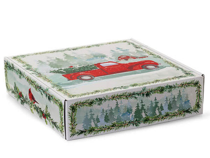 Christmas Red Truck Shipping Box