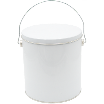 1 Gallon White Tin