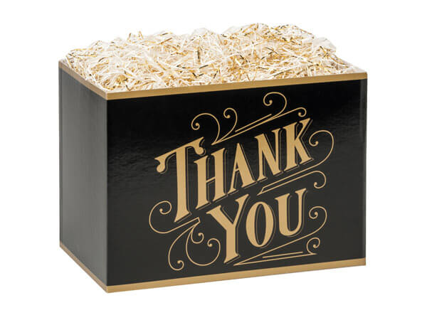 Black and Gold Thank You Gift Box
