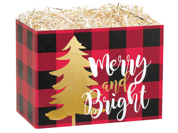 Plaid Christmas Gift Box