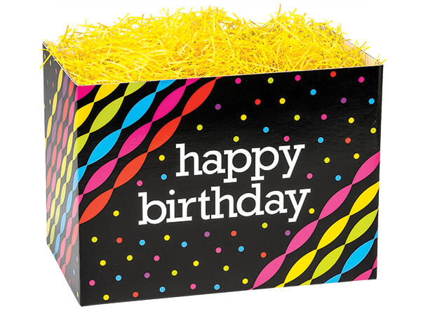 Small Birthday Streamers Gift Box