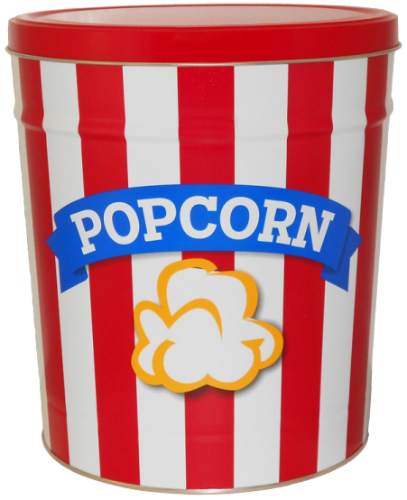 Blue Ribbon Popcorn Tin 3.5 Gallon