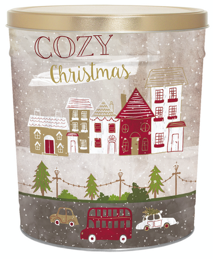 Cozy Christmas Tin 3.5 Gallon