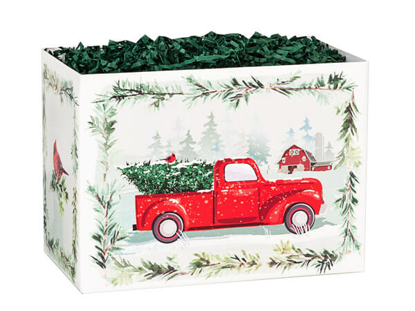 Small Tree Farm Christmas Truck Gift Box