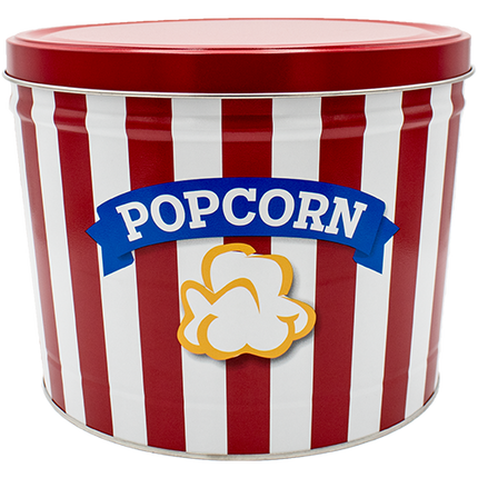 Blue Ribbon Popcorn Tin 2 Gallon