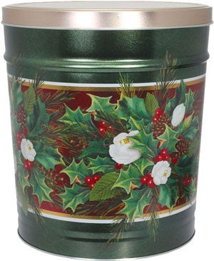Christmas Bouquet Holiday Tin 3.5 Gallon
