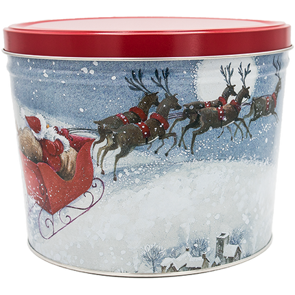 Santa's Sleigh Tin 2 Gallon