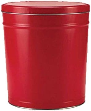Red Popcorn Tin 3.5 Gallon