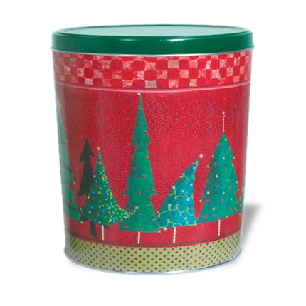 Christmas Trees Tin 3.5 Gallon