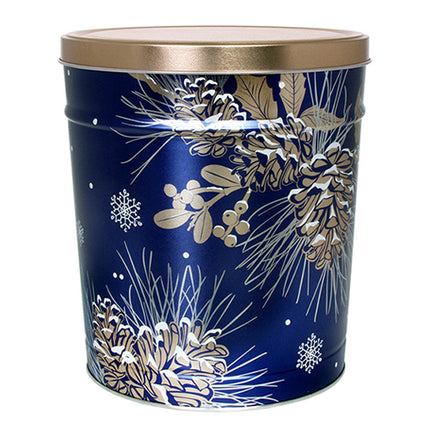 Winter Pine Holiday Tin 6.5 Gallon