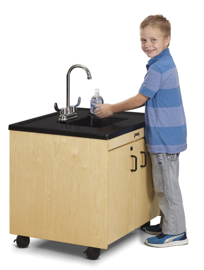 "Jonti-Craft Clean Hands Helper 26"" Portable Sink Plastic Basin and Top"