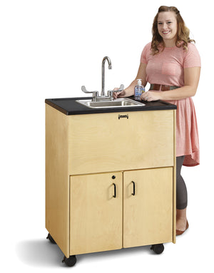"Jonti-Craft Clean Hands Helper 38 "" Height Stainless Steel  Basin Portable Sink"