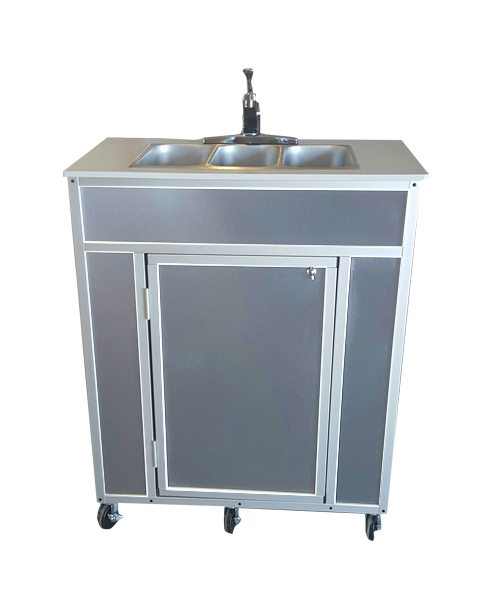Monsam NSF Certified Triple Basin Portable Sink