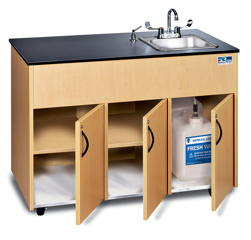 Ozark River Advantage Series Portable Hot Water Sink- Stainless Steel Top and Deep Basin