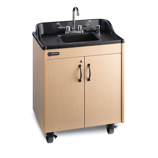 Ozark River Lil' Premier Portable Child Height Sink Maple with Black or SS