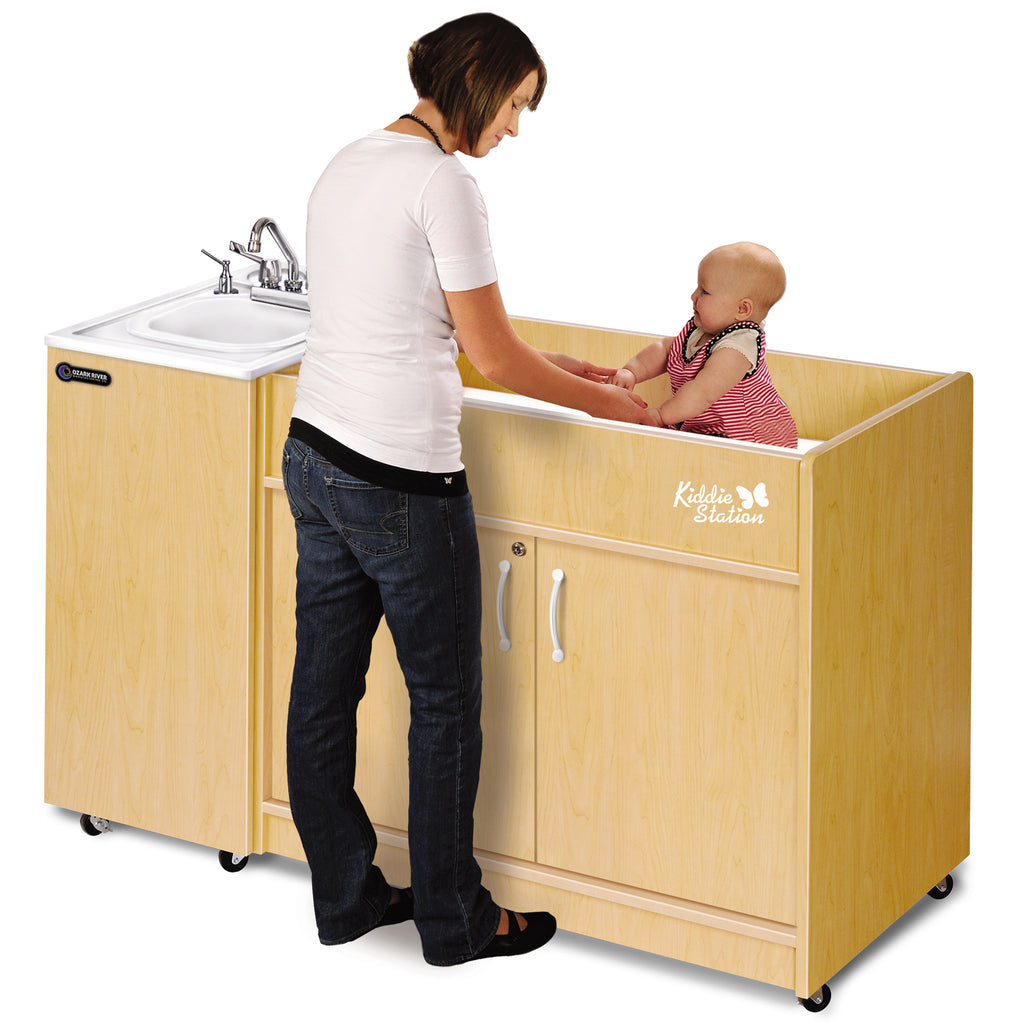 Child Diaper Changing Station attached Portable Sink by Ozark River